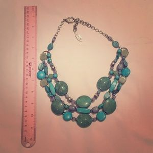 Chico's faux turquoise necklace-short